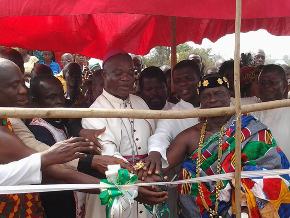 Bishop Nketsiah, Paramount Chief and other Dignitaries